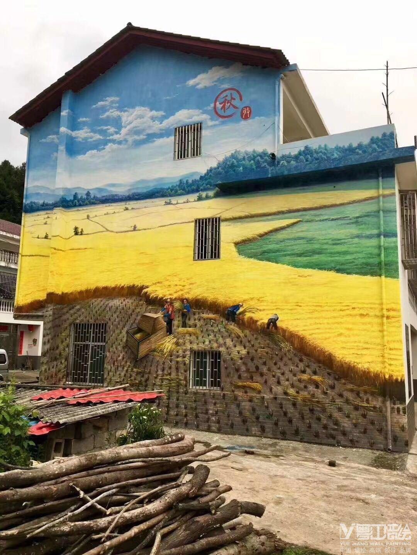 公司核心价值观_清远东华镇新农村建设文化墙-广州墙绘-古建彩绘-粤江装饰